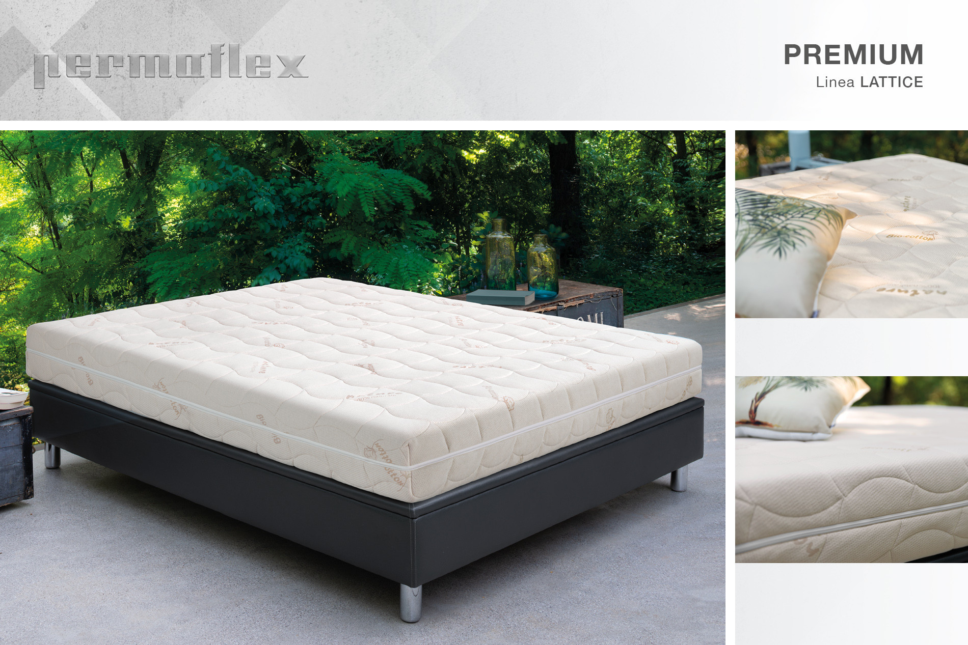 Materassi In Lattice Naturale Permaflex.Linea Lattice Premium Permaflex